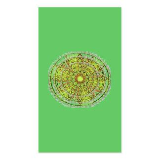 Tarjeta del perfil de la señal del verde del arte  tarjeta de visita
