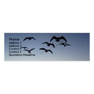 Tarjeta del perfil de la silueta del pájaro tarjetas de visita mini