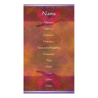 Tarjeta del perfil de la tarjeta del perfil del tarjetas de visita