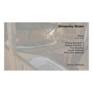 Tarjeta del perfil de la tienda del barco tarjetas de visita