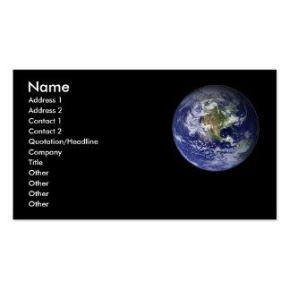 Tarjeta del perfil de la tierra - tarjeta de visit tarjetas de visita