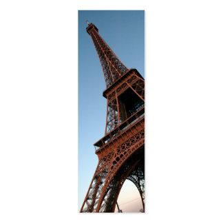 Tarjeta del perfil de la torre Eiffel Tarjeta De Visita
