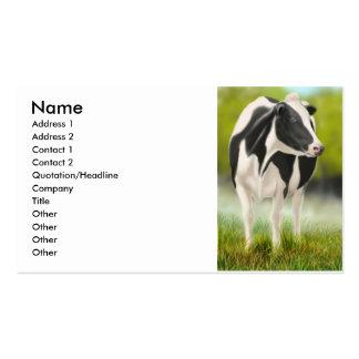 Tarjeta del perfil de la vaca de Holstein Tarjetas De Visita