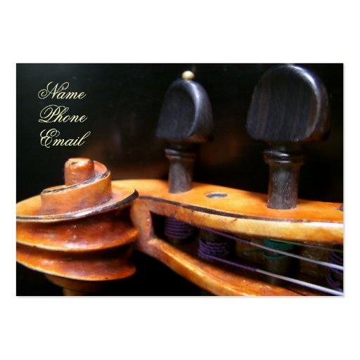 Tarjeta del perfil de la voluta del violín de Lesl Plantillas De Tarjetas Personales