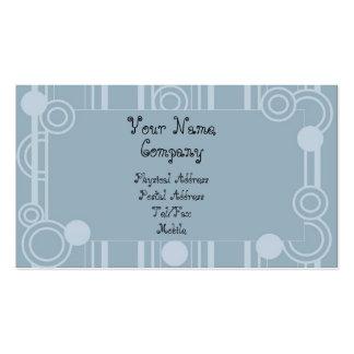 Tarjeta del perfil de las burbujas y de las tiras tarjetas de visita