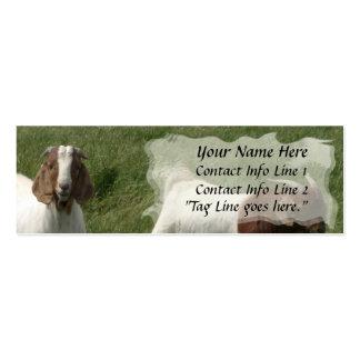 Tarjeta del perfil de las cabras tarjetas personales