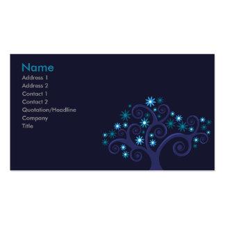 Tarjeta del perfil de las floraciones tarjetas personales