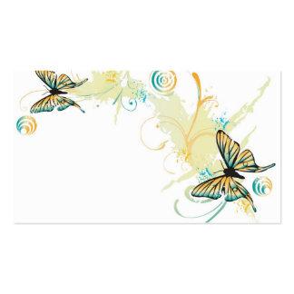 Tarjeta del perfil de las mariposas tarjetas de visita