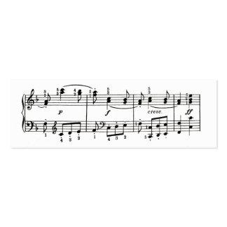 Tarjeta del perfil de las notas musicales tarjetas de visita mini