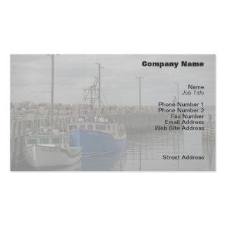 Tarjeta del perfil de los barcos del puerto de plantillas de tarjeta de negocio