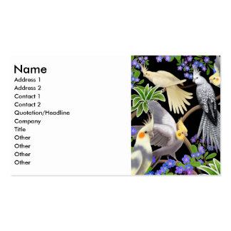 Tarjeta del perfil de los Cockatiels Plantillas De Tarjetas De Visita