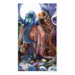 Tarjeta del perfil de los cuerpos divinos plantilla de tarjeta de negocio