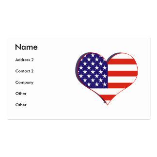 Tarjeta del perfil de los E.E.U.U. del patriota Tarjetas De Visita