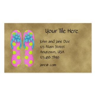 Tarjeta del perfil de los flips-flopes tarjetas de visita