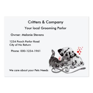 Tarjeta del perfil de los mascotas tarjetas de visita grandes