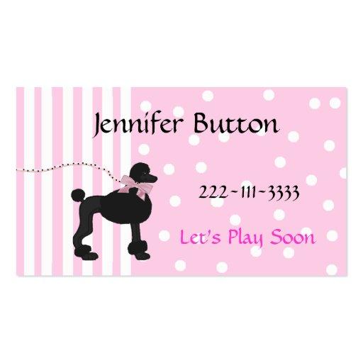Tarjeta del perfil de los niños bonitos/tarjeta de tarjetas de visita