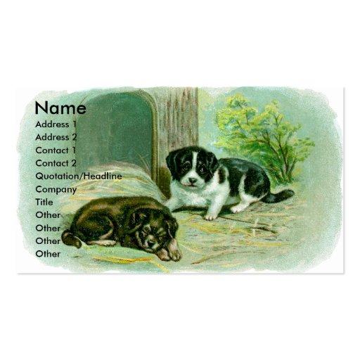 Tarjeta del perfil de los perritos tarjetas de negocios