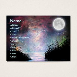 Tarjeta del perfil de los sueños Print_1 Tarjetas De Visita Grandes