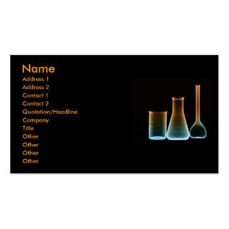 Tarjeta del perfil de los tubos de ensayo tarjetas de visita