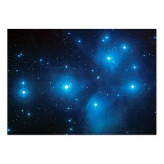 Tarjeta del perfil de Pleiades Tarjetas De Visita Grandes