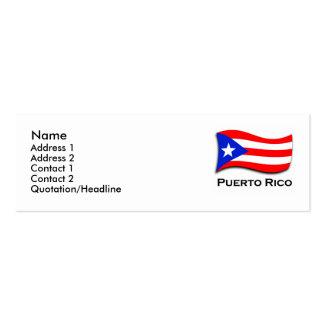 Tarjeta del perfil de Puerto Rico Tarjetas De Visita Mini