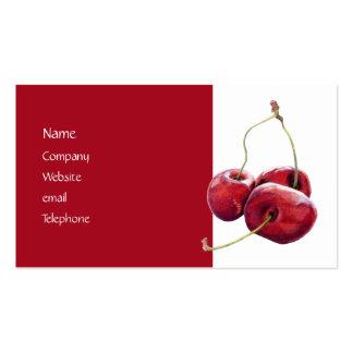 Tarjeta del perfil de tres cerezas