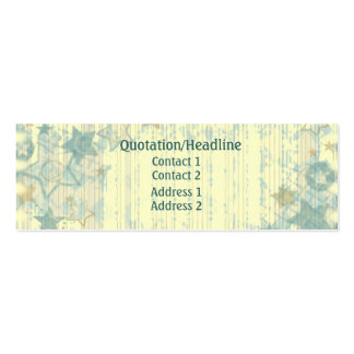 Tarjeta del perfil/de visita de las barras y tarjetas de visita mini