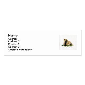 Tarjeta del perfil/de visita del oso grizzly plantillas de tarjetas personales