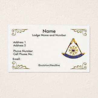 Tarjeta del perfil/de visita del último amo tarjetas de visita