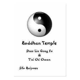 Tarjeta del perfil de Yin y de Yang Tarjetas De Visita