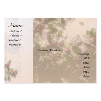 Tarjeta del perfil del acebo del rezo de la sereni plantilla de tarjeta de visita