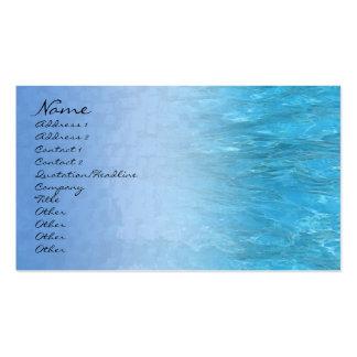 Tarjeta del perfil del agua de la piscina tarjetas de visita