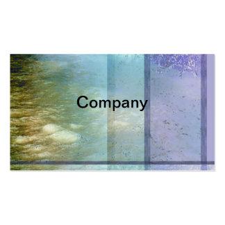 Tarjeta del perfil del agua de río tarjetas de visita