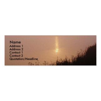 Tarjeta del perfil del amanecer de los humedales tarjetas de visita mini