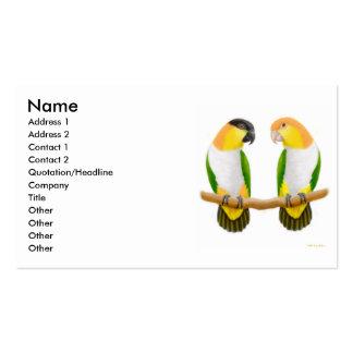 Tarjeta del perfil del amor del loro tarjetas de visita