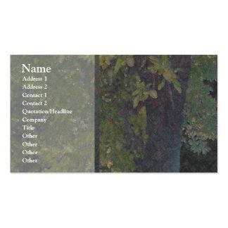 Tarjeta del perfil del árbol de almendra 1 tarjetas de negocios