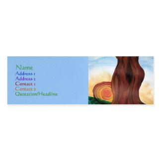 Tarjeta del perfil del árbol de la mujer plantillas de tarjetas de visita