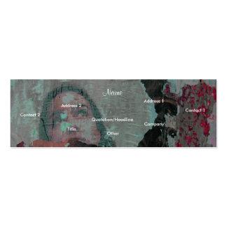Tarjeta del perfil del artista - personalizable tarjeta de visita
