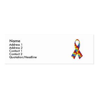 Tarjeta del perfil del autismo tarjetas de visita mini