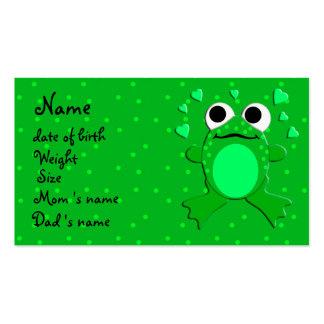 tarjeta del perfil del bebé (personalizable) tarjetas de visita