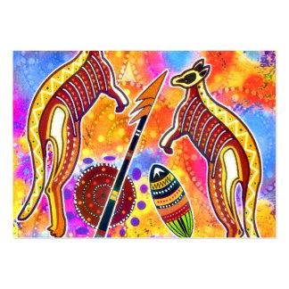 Tarjeta del perfil del canguro tarjetas de visita grandes