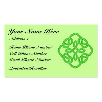 Tarjeta del perfil del Celtic 001 Tarjetas De Visita
