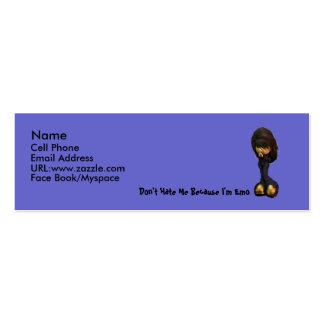 Tarjeta del perfil del chica de Lil Emo Tarjetas De Visita Mini