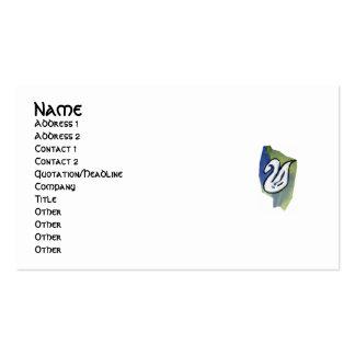 Tarjeta del perfil del CISNE de la ACUARELA Plantilla De Tarjeta De Negocio