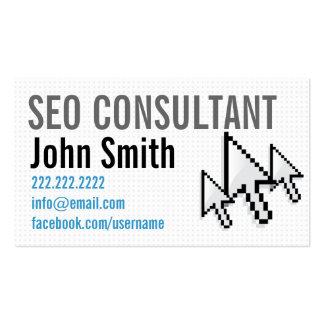 Tarjeta del perfil del consultor de los cursores tarjetas de visita