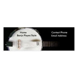 Tarjeta del perfil del contacto del jugador del tarjetas de visita mini