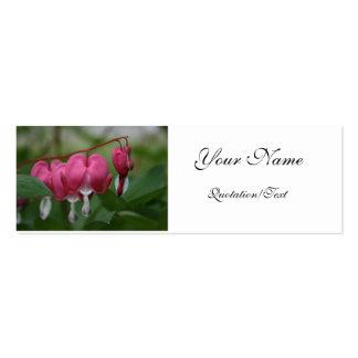 Tarjeta del perfil del corazón sangrante tarjeta de visita