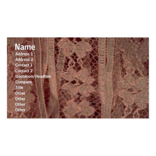 Tarjeta del perfil del cordón tarjetas de visita