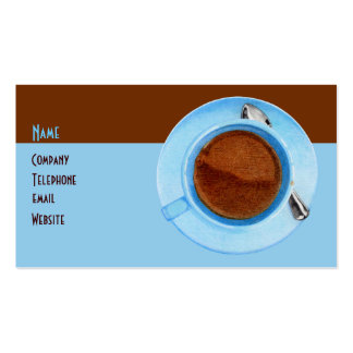 Tarjeta del perfil del descanso para tomar café