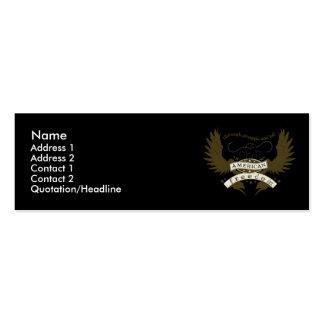 Tarjeta del perfil del diseño de la lucha tarjetas de visita mini